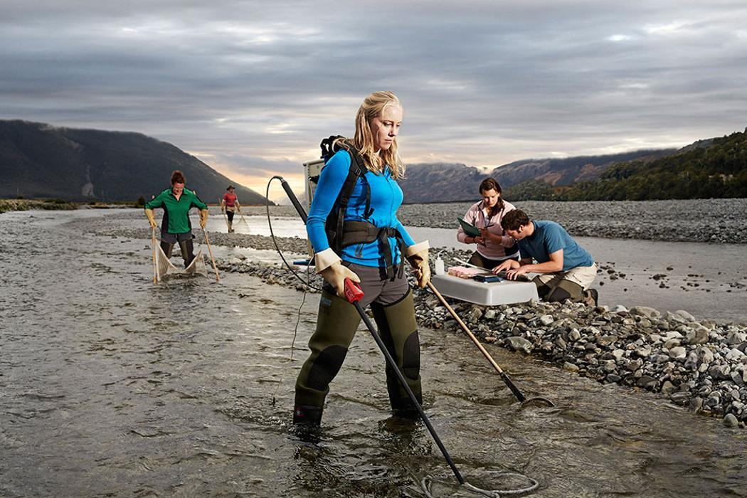 Banner science river landscape