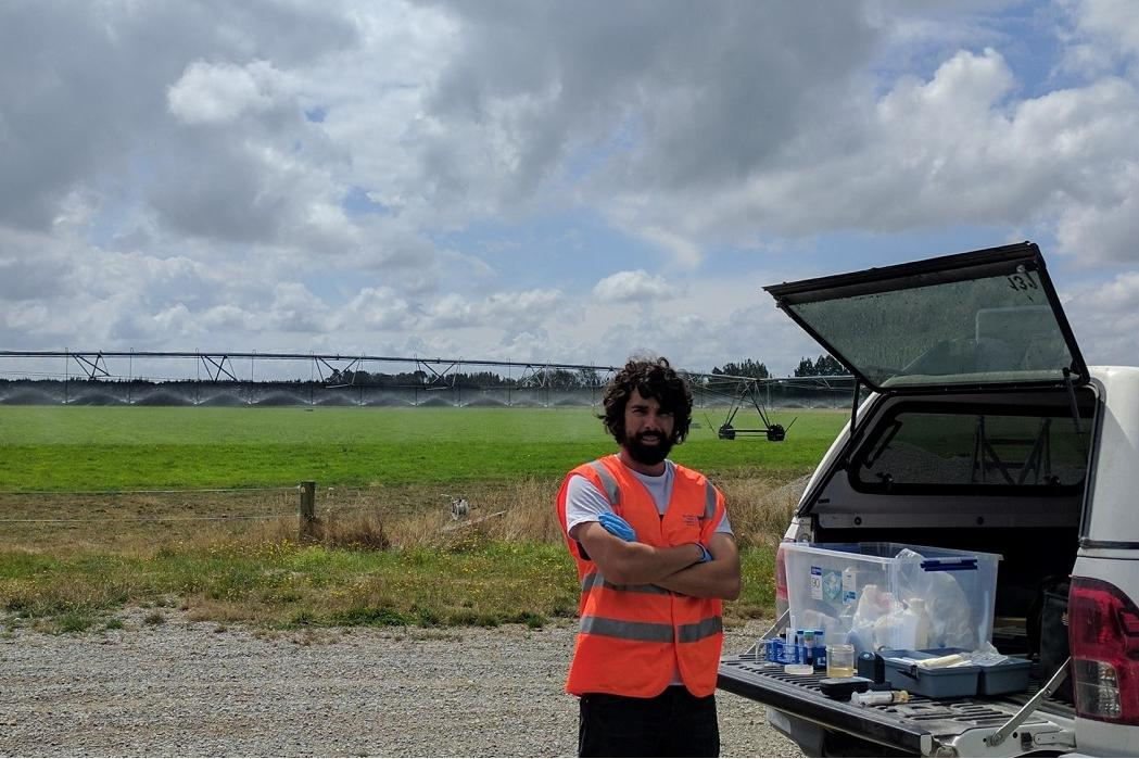 water resource management student with irrigators