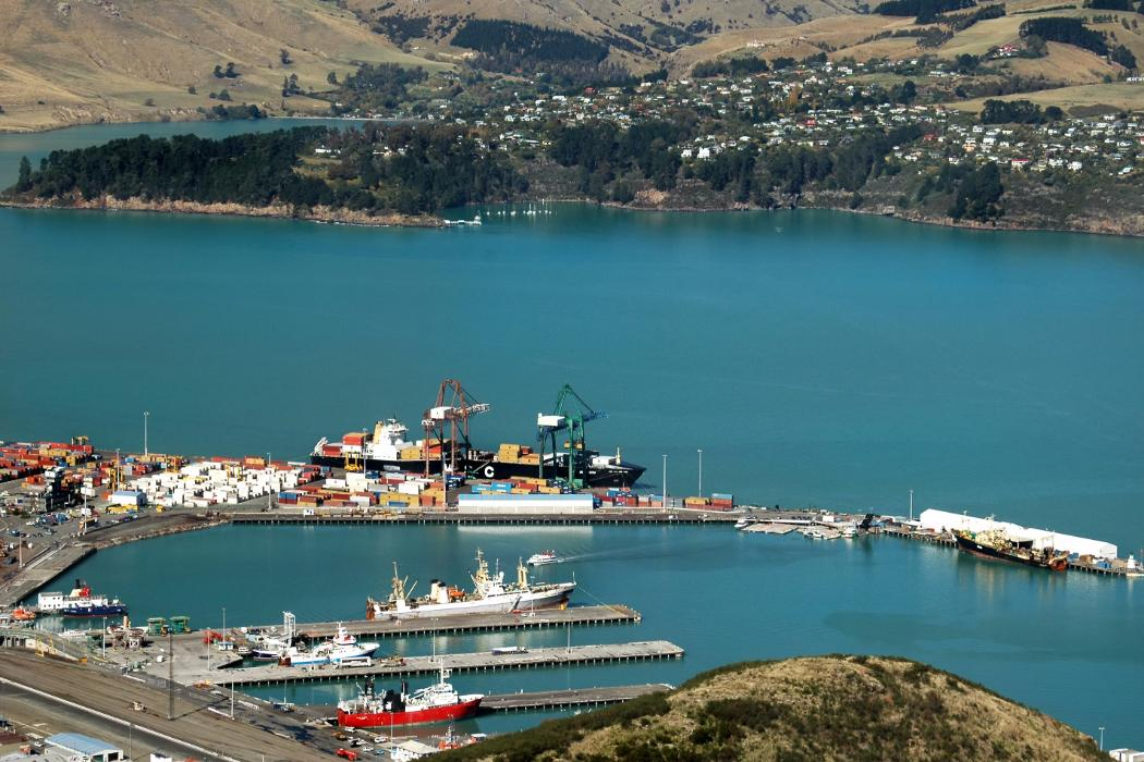 environmental science aerial view of lyttleton harbour