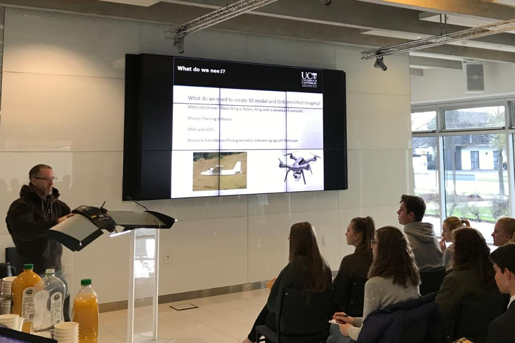 UC Geography's Geospatial Science Technician Paul Bealing talks drones and UAVs