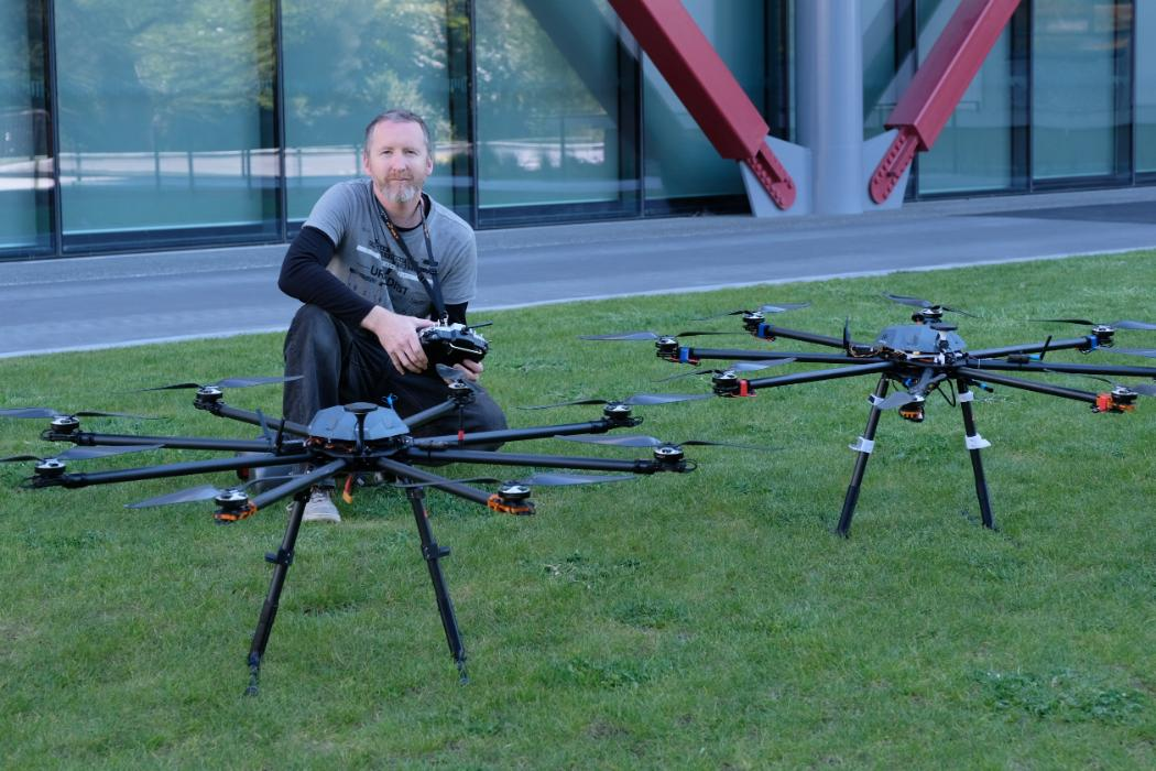 Paul Bealing with drones