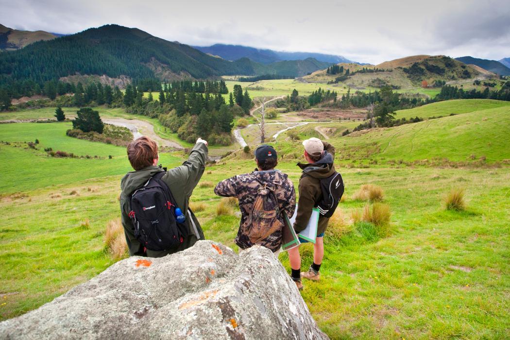 geology students at tekoa