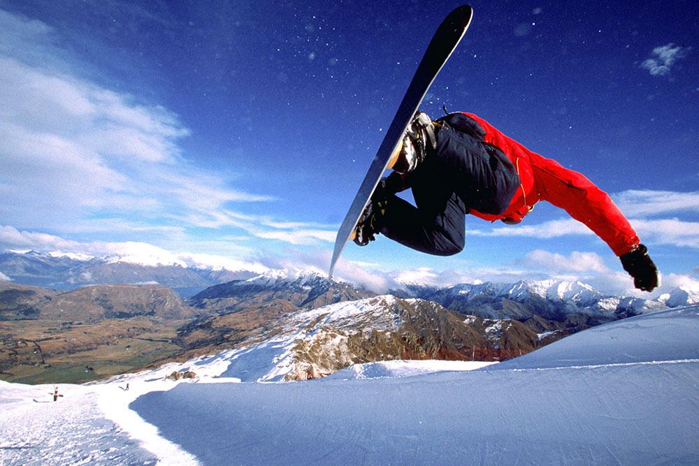Snowboarding at Mt. Hutt
