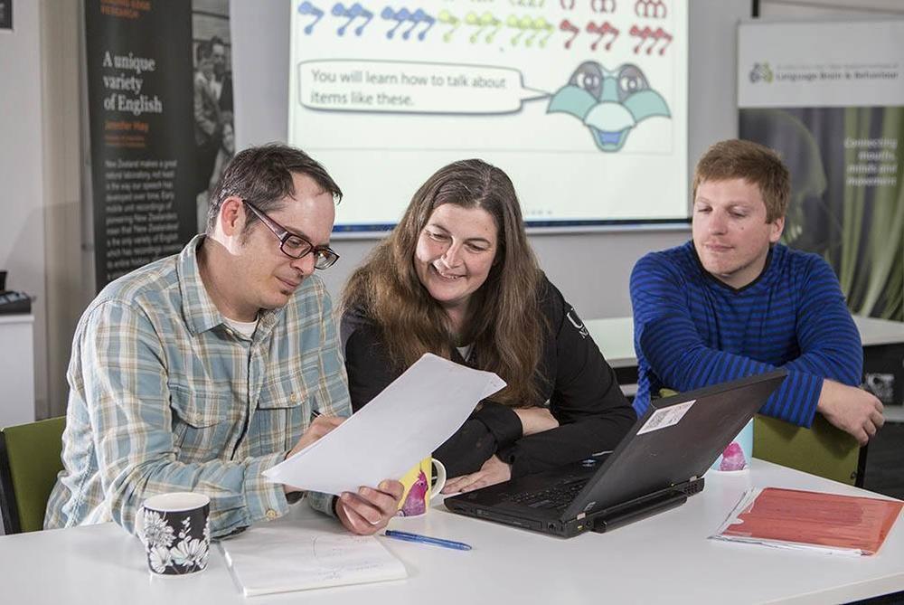 New Zealand Brain Research Institute staff working