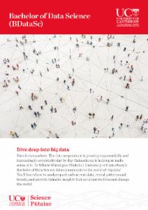 Brochure on UC's Bachelor of Data Science degree.