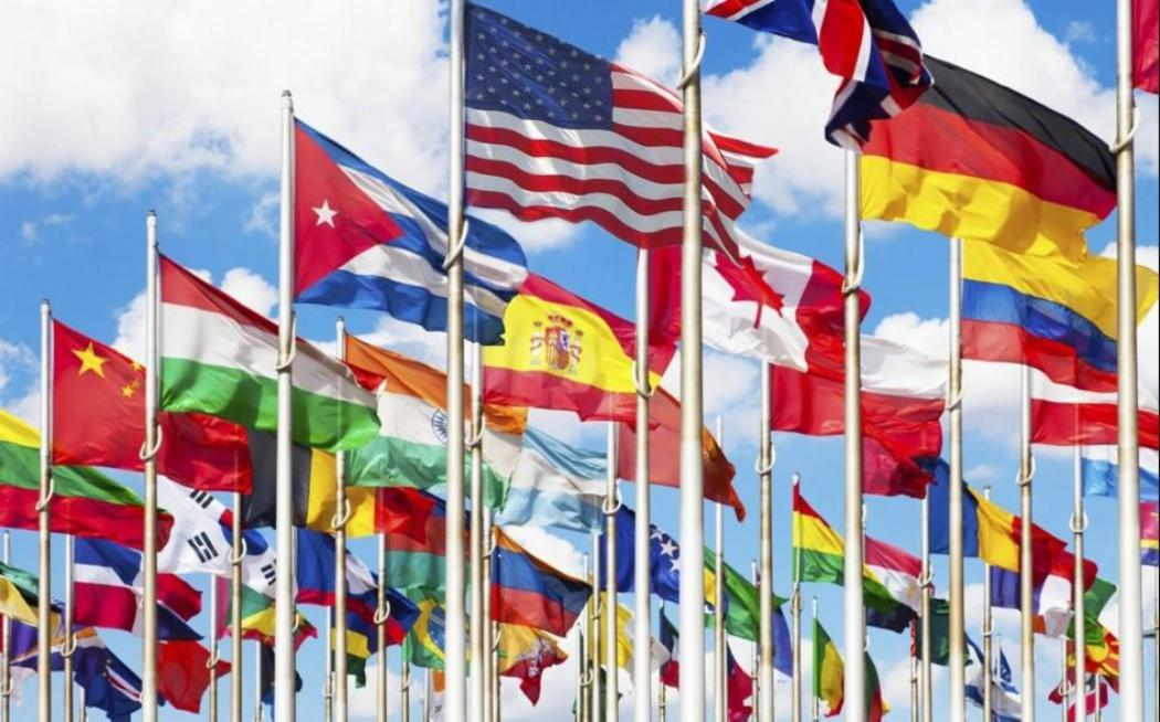 International Law & Politics - flags