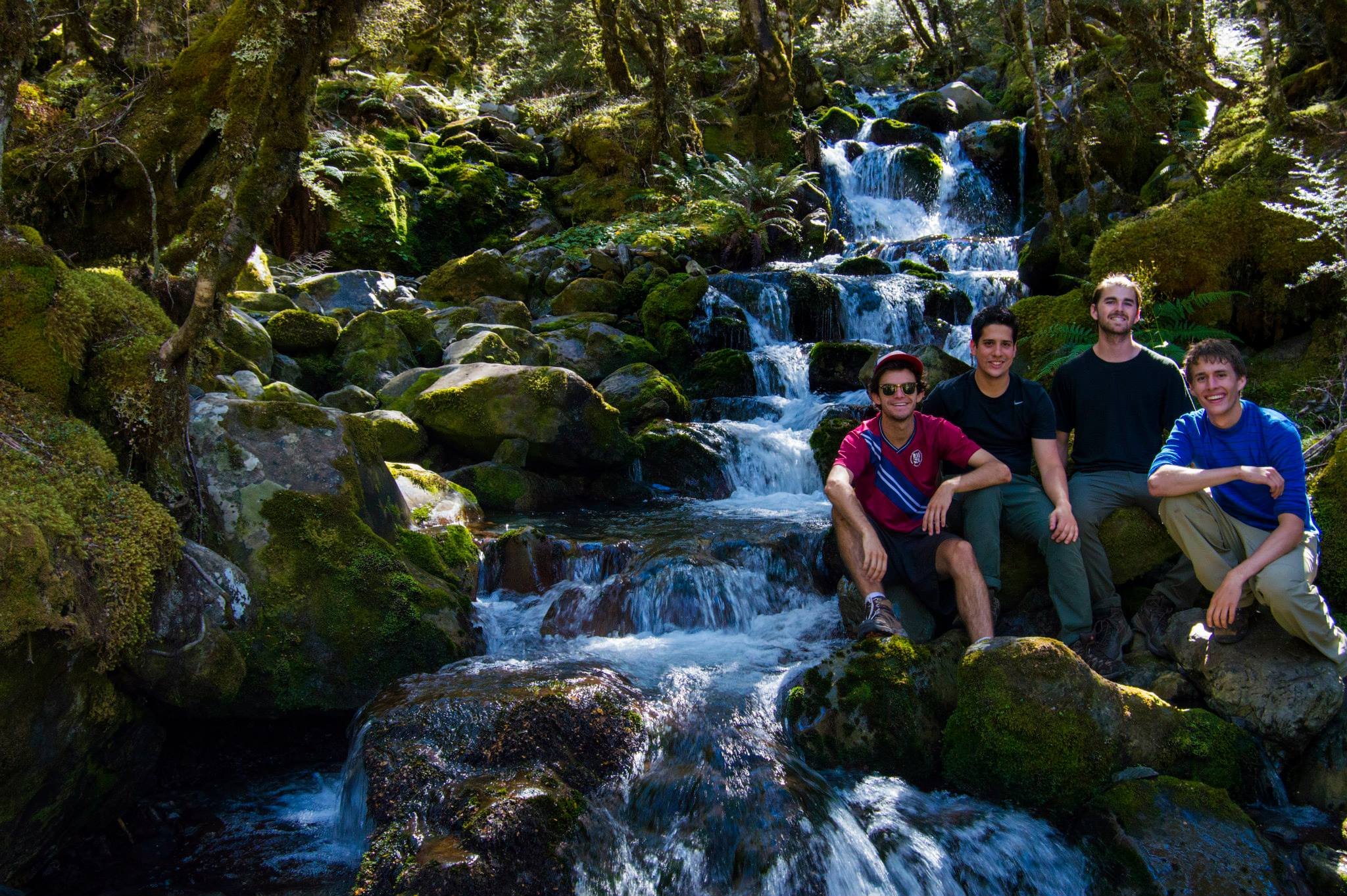 Boys trip waterfall