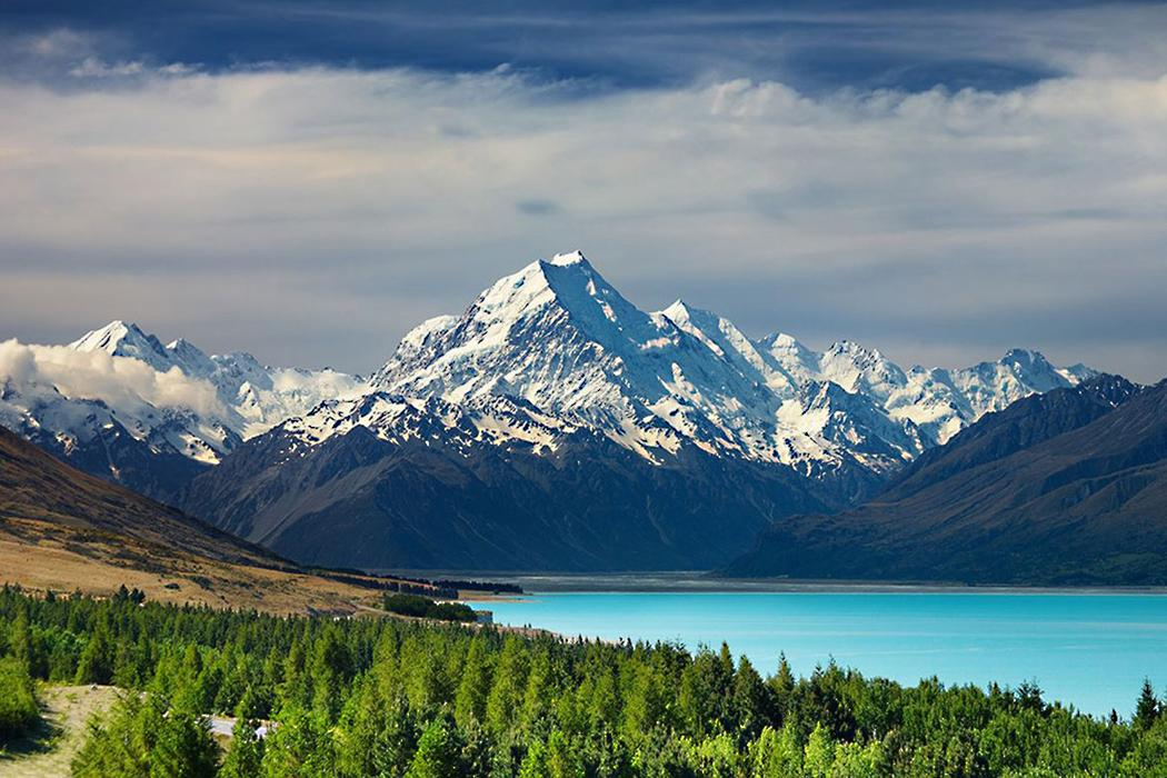 View of Aoraki/Mt Cook in New Zealand