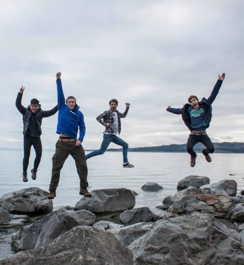 07 Colin, Matt, Myself and Ben at Sumner Beach