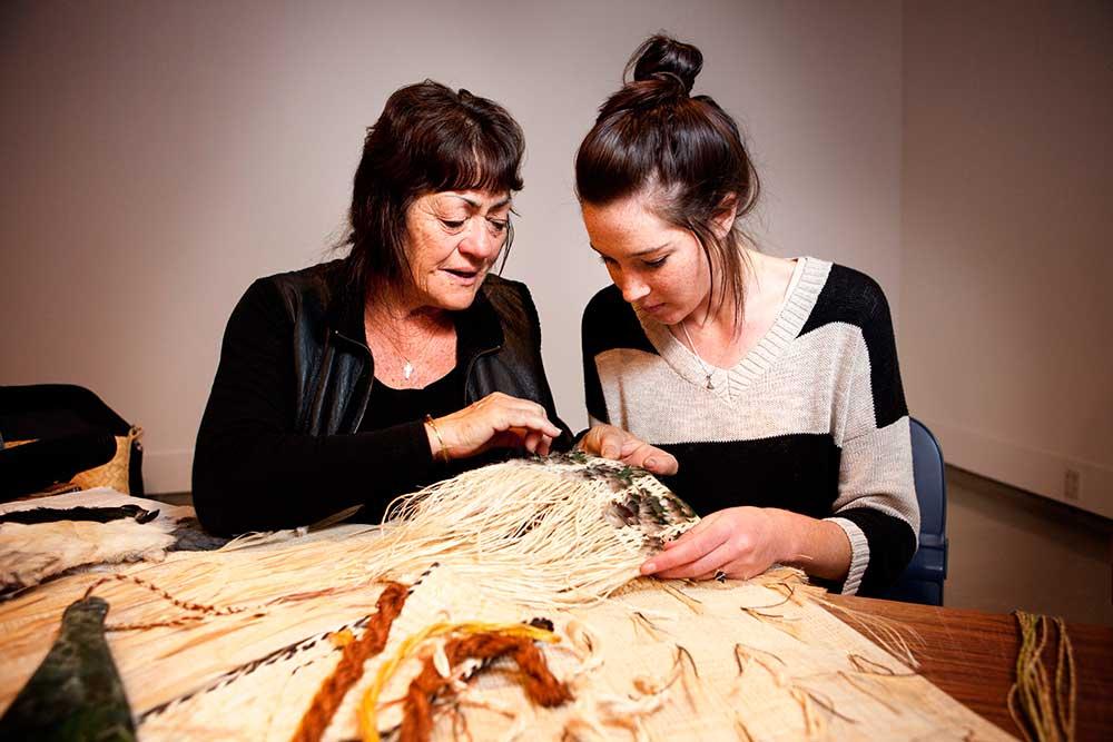 Maori weaving workshop