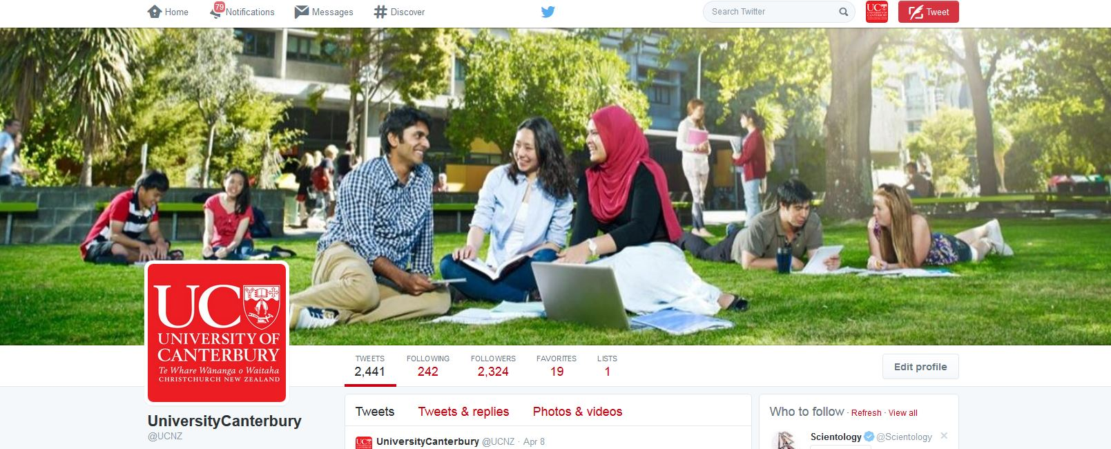Twitter Cover Example