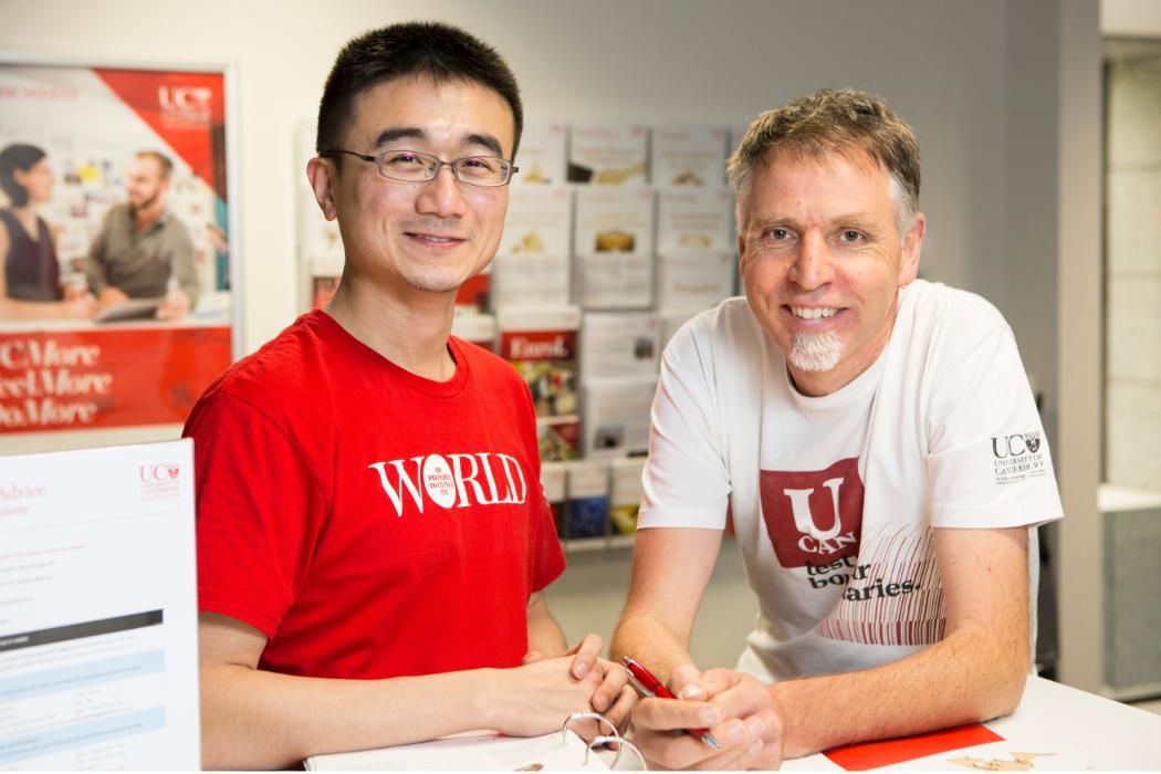 Ben Meng and Malcolm Scott, student advisors