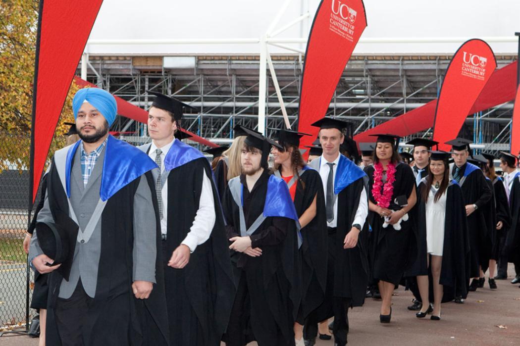 Graduation students landscape