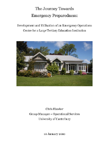 The Journey Towards Emergency Preparedness: Development and Utilisation of an Emergency Operations Centre for a Large Tertiary Education Institution