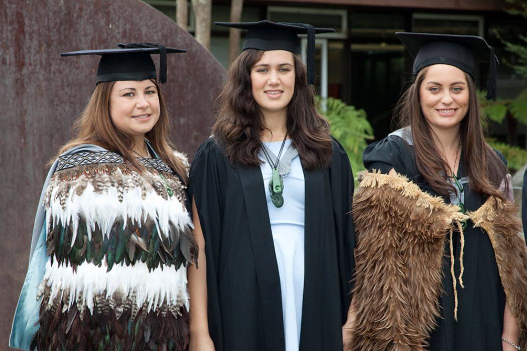 Maori students graduation landscape