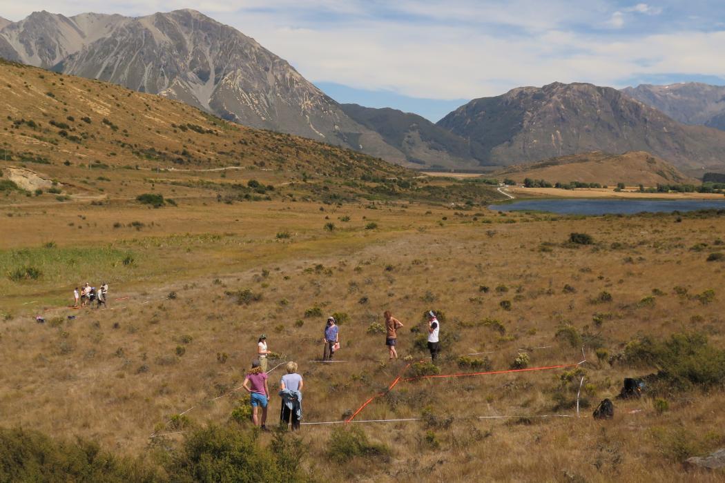 biology field trip to Mt Cass
