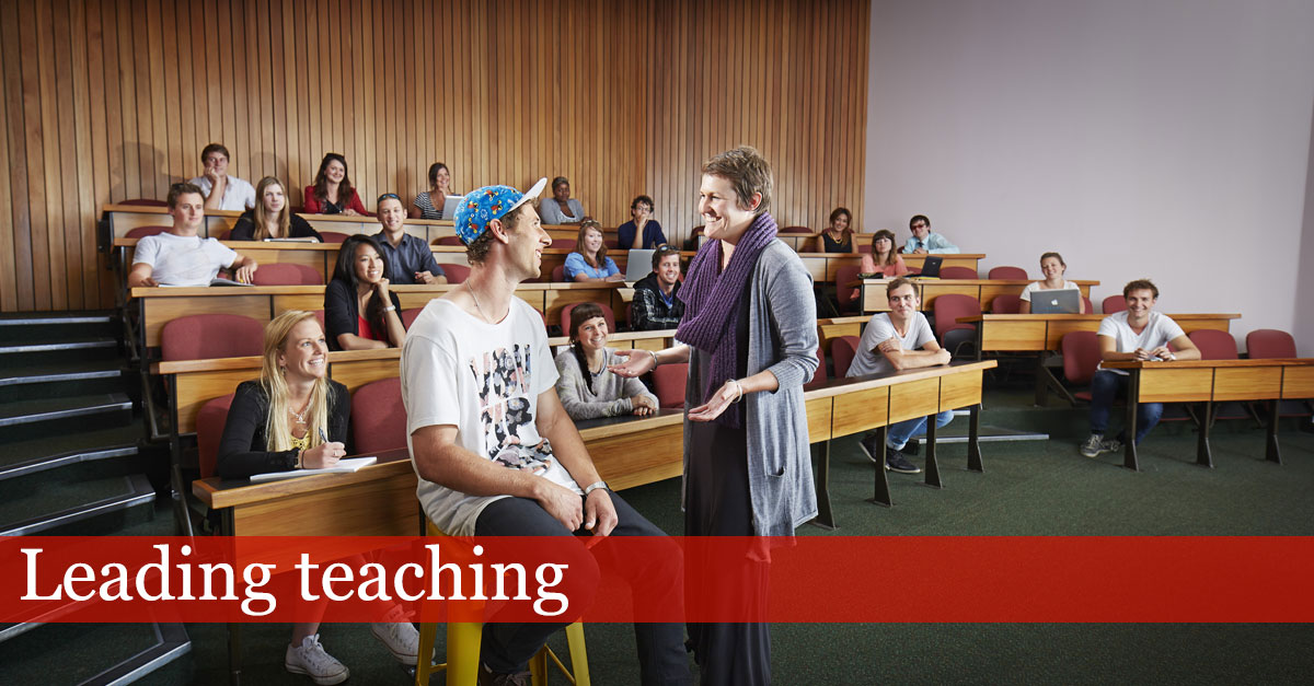 Law lecture - leading teaching