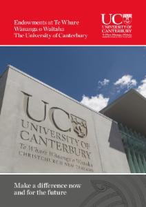 Endowments at UC