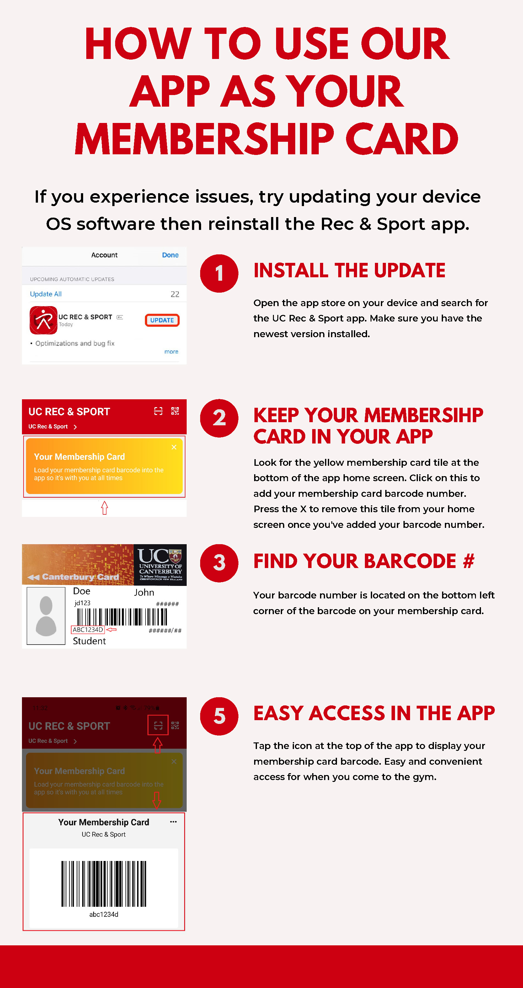 How to add your membership card to your app so you're never without your card when you come to the gym