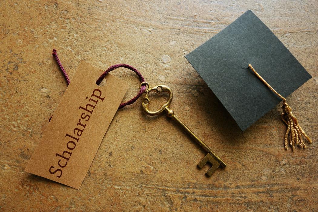 Scholarship tag on a key